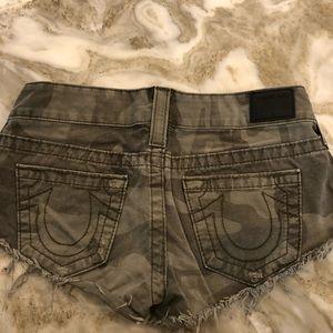True Religion Camo shorts. Size 27